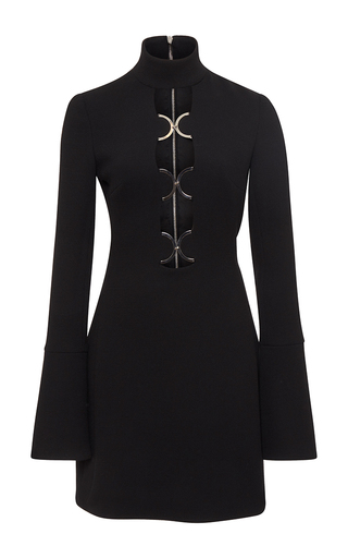 Medium david koma black cutout dress