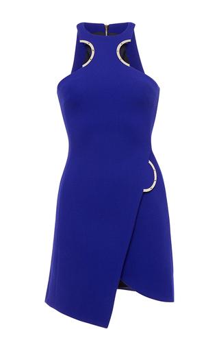 Medium david koma blue blue embellished halter dress