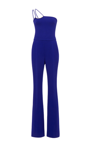 Medium david koma blue off the shoulder jumpsuit