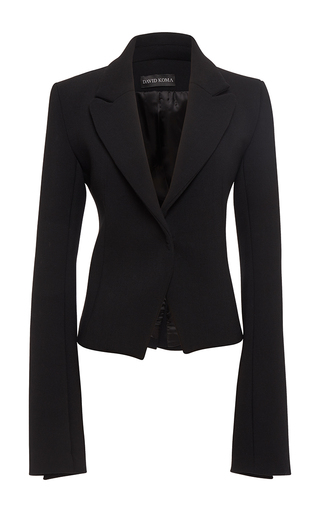 Medium david koma black tailored jacket