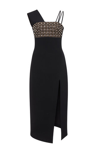 Medium david koma black wide strap dress