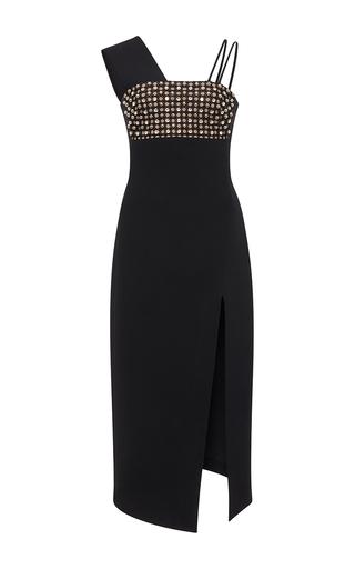 Medium david koma black wide strap dress