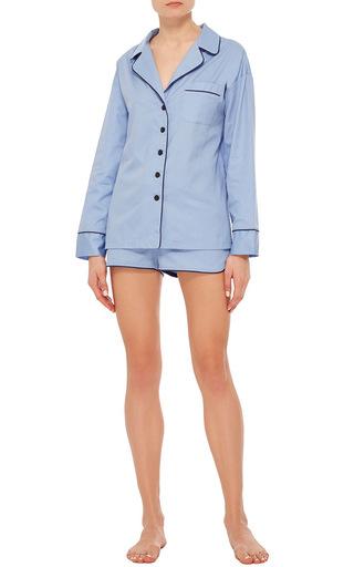 Maria Blue Pajama Set With Shorts by SLEEPER Now Available on Moda Operandi