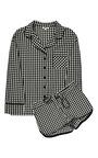 Black Gingham Pajama Set With Shorts by SLEEPER Now Available on Moda Operandi