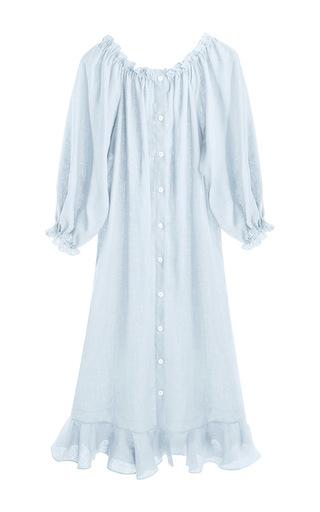 Medium sleeper light blue moonstone blue loungewear dress
