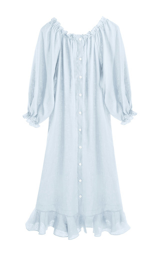 Medium sleeper light blue moonstone blue loungewear dress