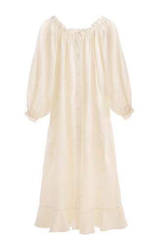 Medium sleeper off white ruffle lounge dress