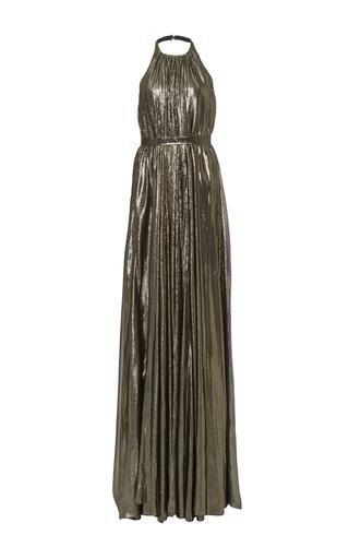 Medium hensely metallic trapeze halter gown