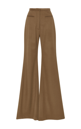 Medium hensely tan wool palazzo pants 2