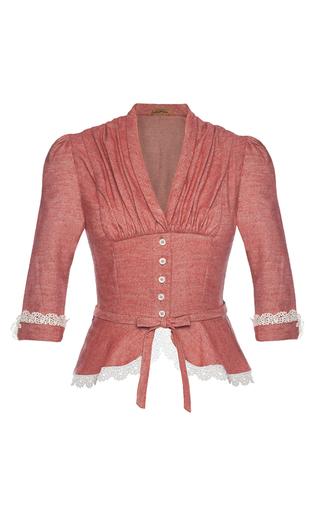 Medium lena hoschek pink lovely tea rose blouse