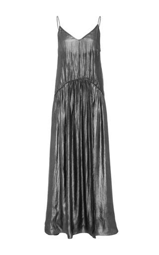 Medium jill stuart silver tati metallic pleated dress