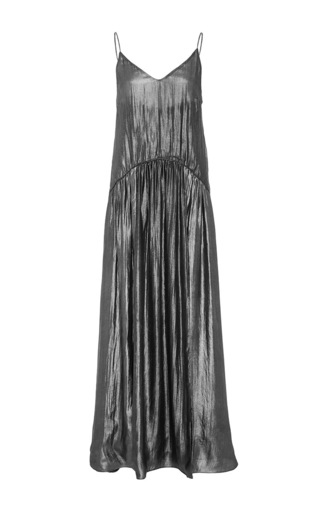 Medium jill stuart silver tati metallic pleated dress