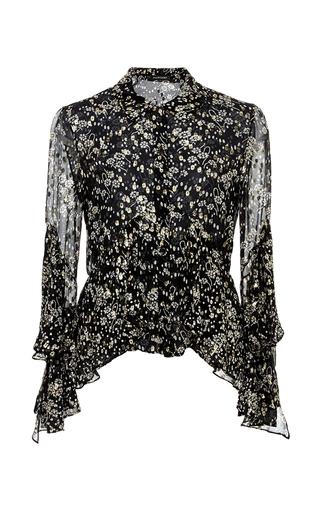 Medium jill stuart black tina ruffle sleeve blouse