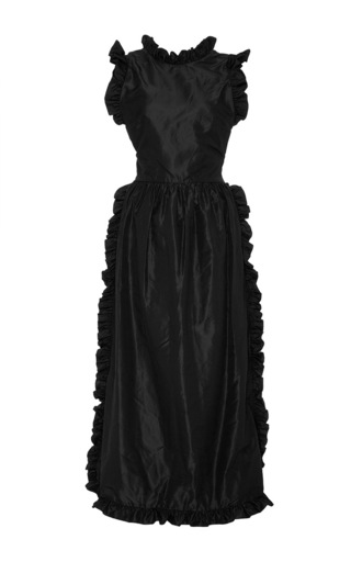 Medium jill stuart black wilam taffeta dress