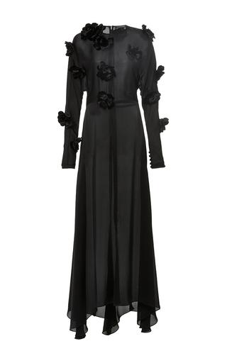 Medium jill stuart black alexa floral applique dress