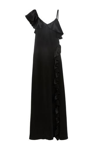 Medium jill stuart black nina one shoulder gown