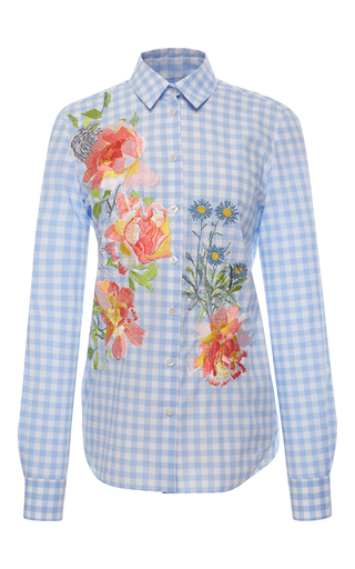 Medium alice archer plaid dusty fitted shirt
