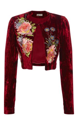 Medium alice archer red desiree cropped jacket  2