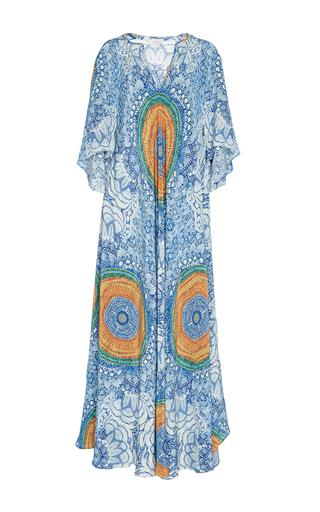 Medium jaline multi penelope scarf paneled long caftan