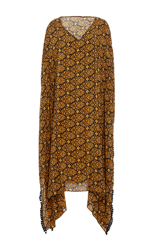 Medium jaline gold kattia v neck long caftan