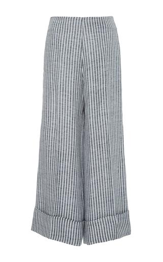 Medium jaline stripe adira cuffed cropped pant