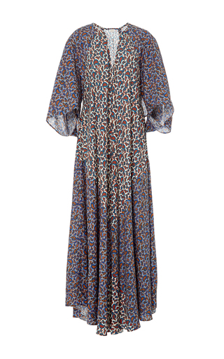 Medium jaline multi penelope scarf paneled long caftan 4