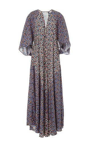 Medium jaline multi penelope scarf paneled long caftan 4