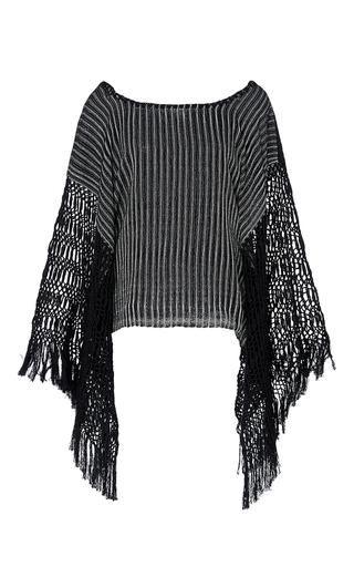 Medium jaline stripe tina poncho tunic