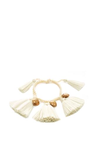 Medium daniela bustos ivory ivory fringe and ivory crochet bracelet 2
