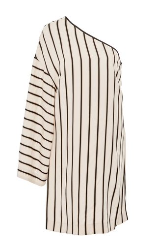 Medium rosetta getty stripe one sleeve shadow stripe mini dress
