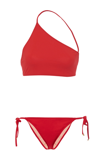Medium rosetta getty red wrap neck string bikini