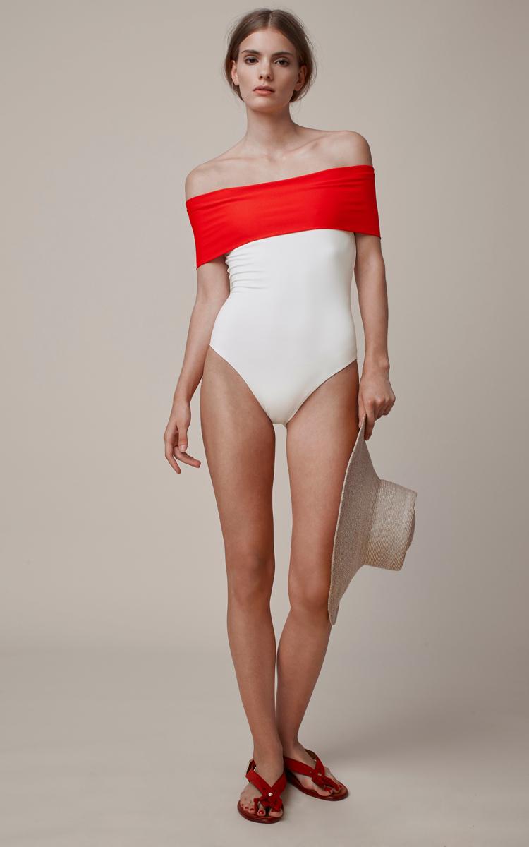 Off The Shoulder Swimsuit By Rosetta Getty Moda Operandi