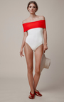 Off The Shoulder Swimsuit by ROSETTA GETTY Now Available on Moda Operandi