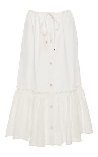 Medium rosetta getty white drawstring button front eyelet skirt