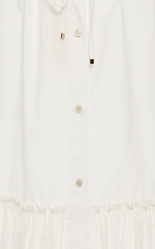 Drawstring Button Front Eyelet Skirt by ROSETTA GETTY Now Available on Moda Operandi