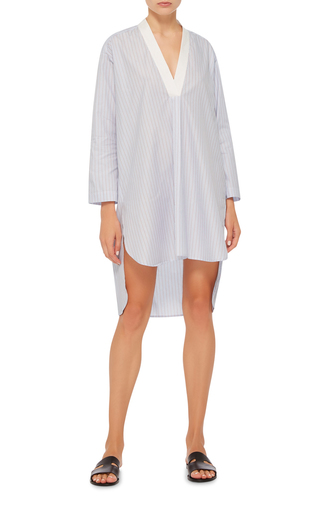 V Neck Striped Tunic by ROSETTA GETTY Now Available on Moda Operandi