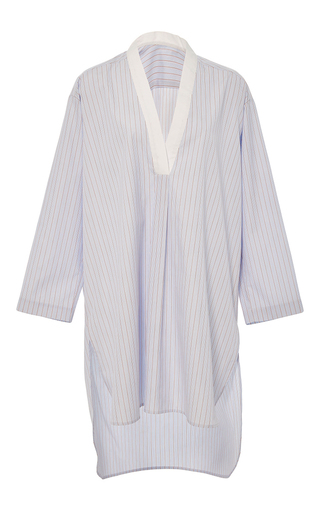 Medium rosetta getty blue v neck striped tunic