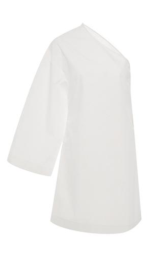 Medium rosetta getty white one sleeve cotton mini dress