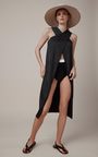 Cross Front Parachute Satin Top by ROSETTA GETTY Now Available on Moda Operandi