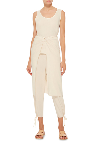 Apron Stretch Canvas Draped Top by ROSETTA GETTY Now Available on Moda Operandi
