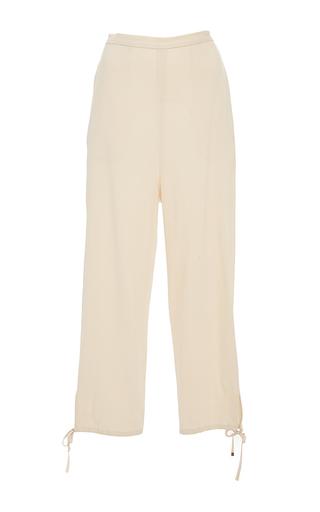 Medium rosetta getty tan pull on stretch canvas lounge pant