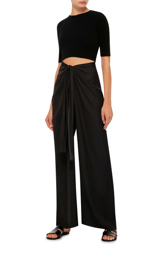 Sarong Parachute Satin Wrap Pants by ROSETTA GETTY Now Available on Moda Operandi