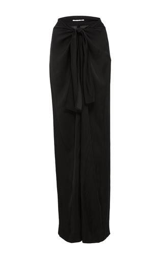 Medium rosetta getty black sarong parachute satin wrap pants