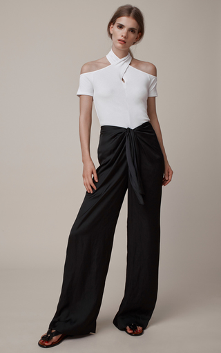 Wrap Neck Off The Shoulder T Shirt  by ROSETTA GETTY Now Available on Moda Operandi