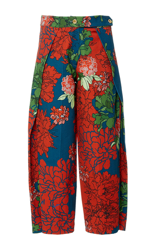 Medium polite floral floral cotton culottes