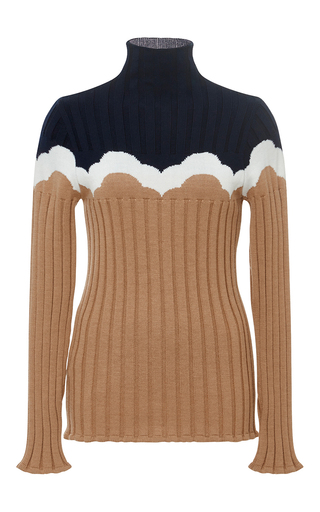 Medium parden s tan tan zevuda ribbed sweater