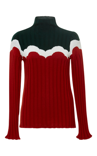 Medium parden s red red zevuda ribbed sweater