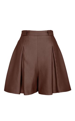 Medium marina hoermanseder brown brown bouncing pleated shorts