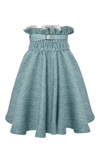 Medium marina hoermanseder light blue mally paper bag skirt