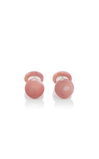 Medium samuel gassmann pink mother of pearl cufflinks 2